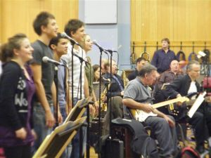 Brit School students rehearse at Abbey Road Studios