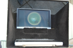 IMage of a teleprompter